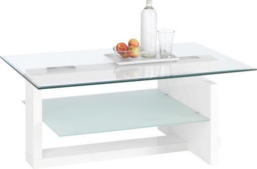 COUCHTISCH in Weiß - Weiß, Design, Glas/Holzwerkstoff (100/60/43cm) - CARRYHOME