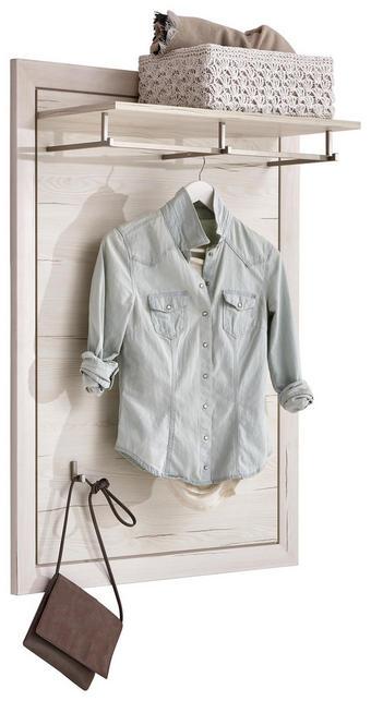 Garderobenpaneel - Weiß, Lifestyle, Holzwerkstoff (82/115/30cm) - Hom`in