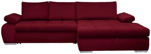 WOHNLANDSCHAFT in Textil Rot - Chromfarben/Rot, Design, Kunststoff/Textil (294/173cm) - Carryhome