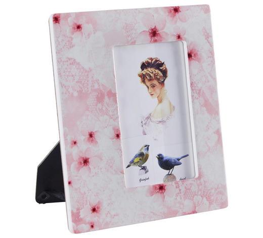 FOTORAHMEN in Pink, Beige - Pink/Beige, Trend, Karton/Keramik (18,5/20,5cm) - Ambia Home