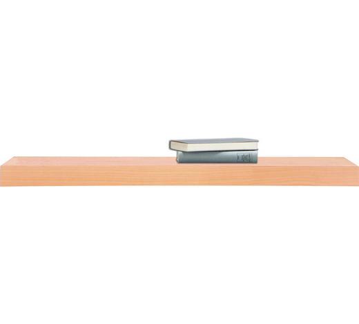 POLICE NÁSTĚNNÁ, buk, barvy buku - barvy buku, Design, dřevo (90/25cm)