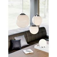 TISCHLEUCHTE - Chromfarben/Weiß, LIFESTYLE, Glas/Metall (25/25/28cm) - Joop!