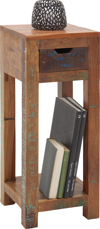 BLUMENTISCH Holz Recyclingholz massiv - Multicolor, LIFESTYLE, Holz (30/60/30cm) - LANDSCAPE