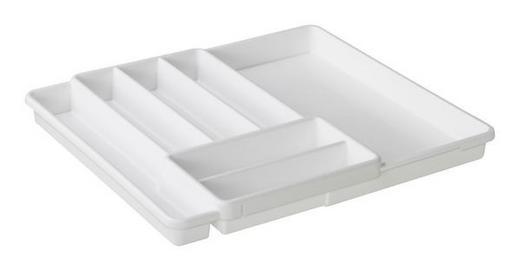 BESTECKEINSATZ - Weiß, Basics, Kunststoff (39,7/34,1/5,1cm)