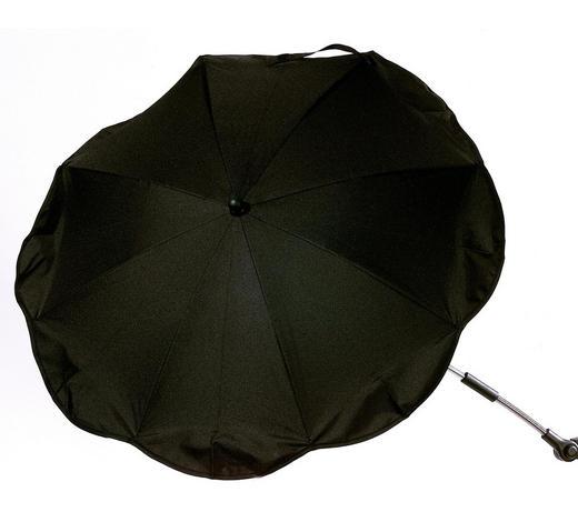 SLUNEČNÍK DO DĚTSKÉHO KOČÁRKU - černá/barvy stříbra, Basics, kov/textil (78cm) - My Baby Lou