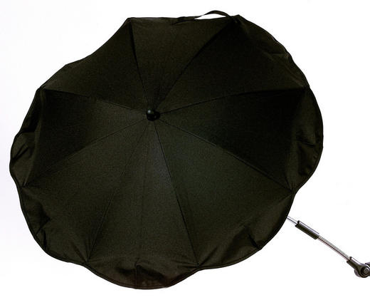 SLUNEČNÍK DO DĚTSKÉHO KOČÁRKU - černá/barvy stříbra, Basics, kov/textilie (78cm) - My Baby Lou