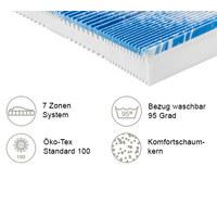 KOMFORTSCHAUMMATRATZE PERFECT TOUCH KS 80/200 cm 22 cm - Weiß, KONVENTIONELL, Textil (80/200cm) - Sleeptex
