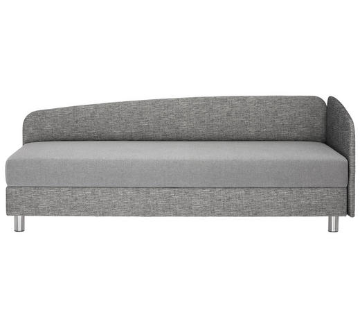 LIEGE in Textil Grau - Chromfarben/Grau, KONVENTIONELL, Textil/Metall (204/75/94cm) - Joka