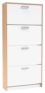 CIPELARNIK - Srebrna/Bela, Dizajnerski, Plastika/Pločasti materijal (75/162/25cm) - Xora