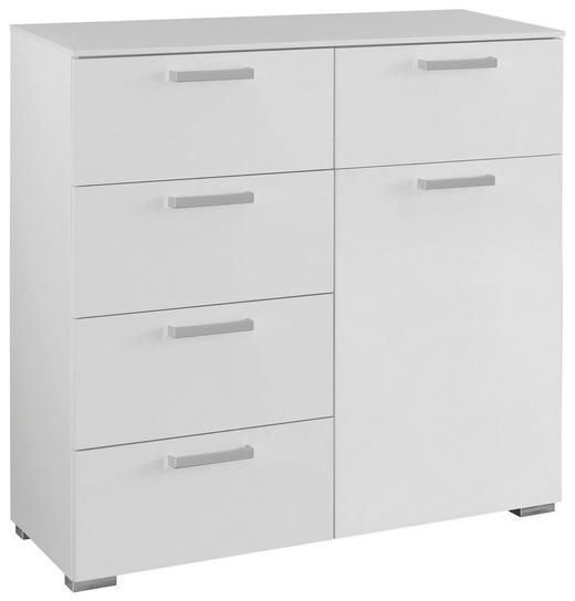 KOMMODE Weiß - Alufarben/Weiß, Design, Holzwerkstoff/Kunststoff (110/105/42cm) - Carryhome