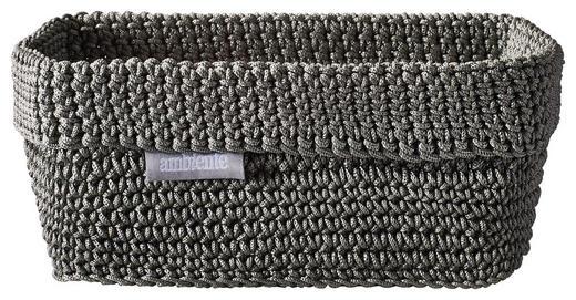 AUFBEWAHRUNGSBOX - Grau, Design, Textil (20/12/9cm) - Ambiente