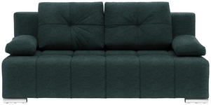 SCHLAFSOFA in Textil Dunkelgrün  - Dunkelgrün/Silberfarben, MODERN, Kunststoff/Textil (201/95/110cm) - Xora