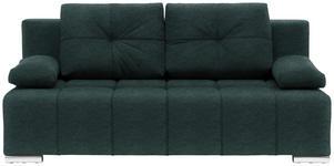 SCHLAFSOFA in Textil Grün  - Silberfarben/Grün, MODERN, Kunststoff/Textil (201/95/110cm) - Xora