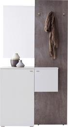 GARDEROBE Grau, Weiß - Weiß/Grau, Design, Glas (110/205/40cm) - CARRYHOME