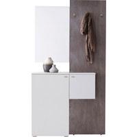 GARDEROBE - Weiß/Grau, Design, Glas/Holzwerkstoff (110/205/40cm) - CARRYHOME