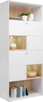 REGAL - bijela/boje hrasta, Design, drvni materijal/metal (90/213/40cm) - HOM IN
