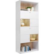 REGÁL - bílá/barvy dubu, Design, kov/kompozitní dřevo (90/213/40cm) - Hom`in