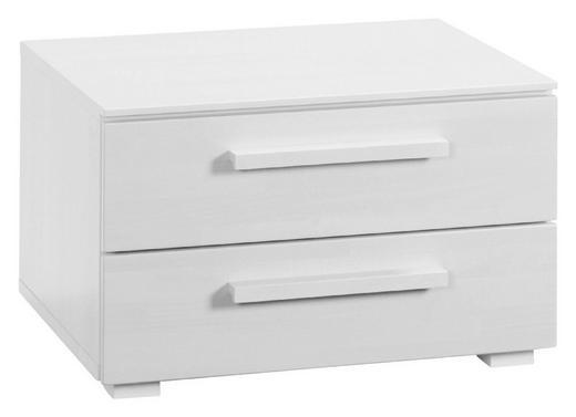 NACHTKÄSTCHEN Buche massiv lackiert, lasiert Weiß - Weiß, Design, Holz (60/38/46cm) - HASENA