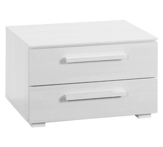 NACHTKÄSTCHEN in massiv Buche Weiß - Weiß, Design, Holz (60/38/46cm) - Hasena