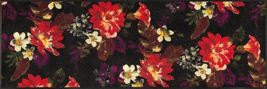 FUßMATTE 60/180 cm Floral Multicolor, Rot, Schwarz - Rot/Multicolor, Kunststoff/Textil (60/180cm) - Esposa
