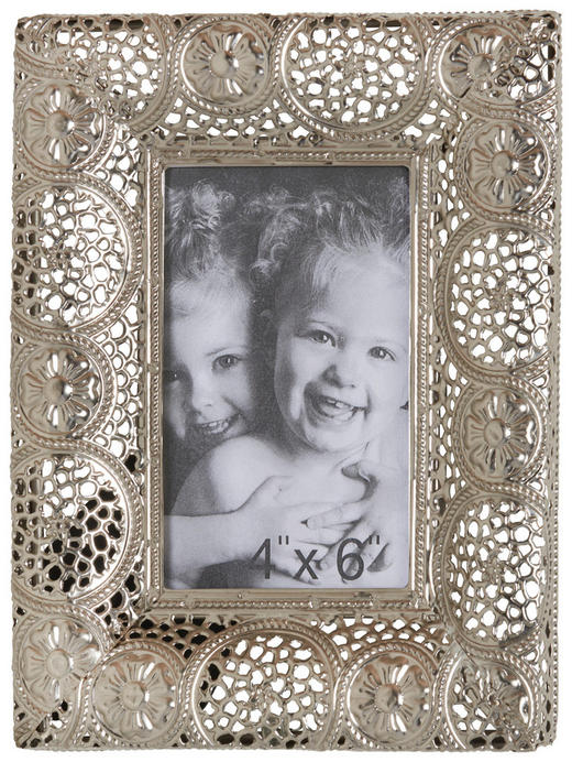 Fotorahmen in Silberfarben - Silberfarben, LIFESTYLE, Glas/Metall (23/18cm) - AMBIA HOME