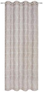 ÖSENVORHANG halbtransparent - Taupe, Design, Textil (135/245cm) - Esposa