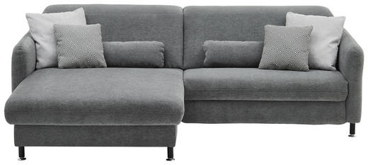WOHNLANDSCHAFT Grau - Grau, LIFESTYLE, Textil/Metall (180/263cm) - Beldomo Style