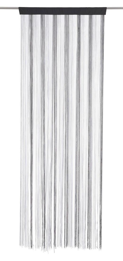 FADENSTORE  transparent  90/245 cm - Silberfarben/Schwarz, Basics, Textil (90/245cm) - Boxxx