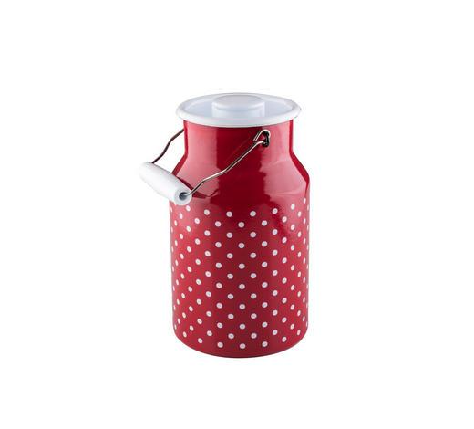 MILCHKANNE  - Rot/Weiß, LIFESTYLE, Kunststoff/Metall (15,50/13,20/23,20cm) - Riess