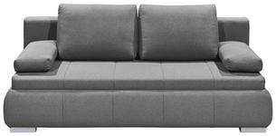 SCHLAFSOFA in Textil, Holzwerkstoff Hellgrau  - Silberfarben/Hellgrau, KONVENTIONELL, Holzwerkstoff/Kunststoff (208/95/105cm) - Carryhome