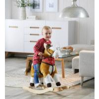 SCHAUKELPFERD - Braun, LIFESTYLE, Holz/Textil (74/30/64cm) - My Baby Lou