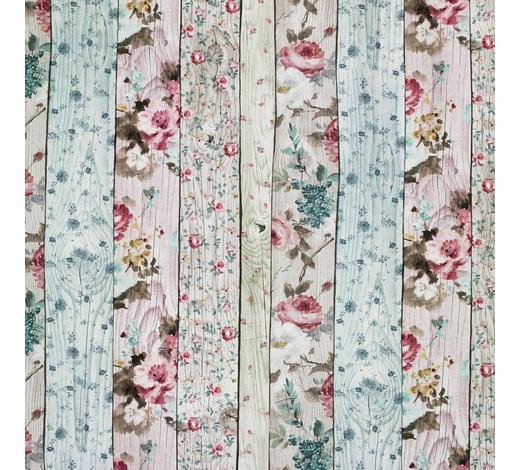 DEKOSTOFF per lfm blickdicht - Türkis/Beige, Trend, Textil (140cm) - Landscape