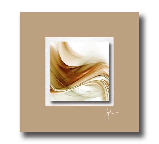 Abstraktes ACRYLGLASBILD  - Multicolor, Design, Kunststoff/Metall (50/50cm) - Wiedemann