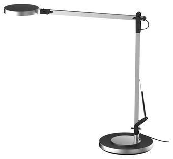 LED STOLNÍ LAMPA - barvy stříbra/černá, Design, kov/umělá hmota (18/18/105cm) - Novel