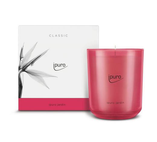 KERZE IM GLAS - Pink, Basics, Glas (11,5/11,5/12cm) - Ipuro