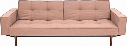 SCHLAFSOFA Rosa - Ulmefarben/Dunkelbraun, Design, Holz/Textil (242/79/115cm) - Innovation