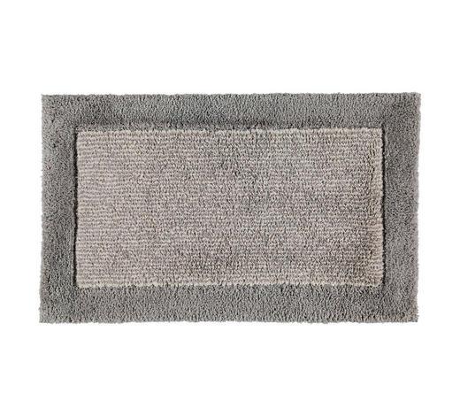 BADTEPPICH  Graphitfarben  60/100 cm     - Graphitfarben, Design, Textil (60/100cm) - Cawoe