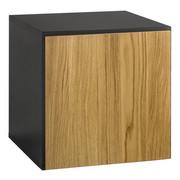 HÄNGESCHRANK - Schieferfarben/Eichefarben, Design, Holz/Holzwerkstoff (37,5/37,5/39,2cm) - Now by Hülsta