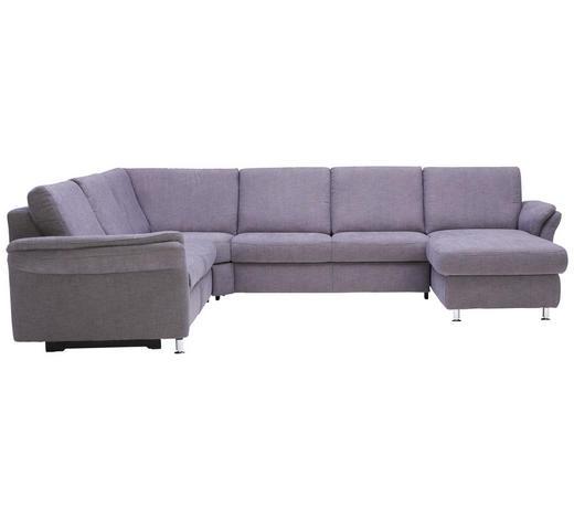 WOHNLANDSCHAFT in Textil Grau - Alufarben/Grau, KONVENTIONELL, Textil/Metall (262/331/173cm) - Beldomo System