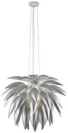 Hängeleuchte - Silberfarben, Konventionell, Metall (70/150cm) - Ambiente