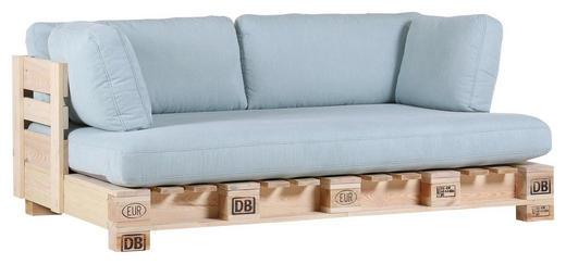 SOFA Hellblau, Naturfarben - Naturfarben/Hellblau, Design, Holz/Textil (204/85/122cm) - Carryhome