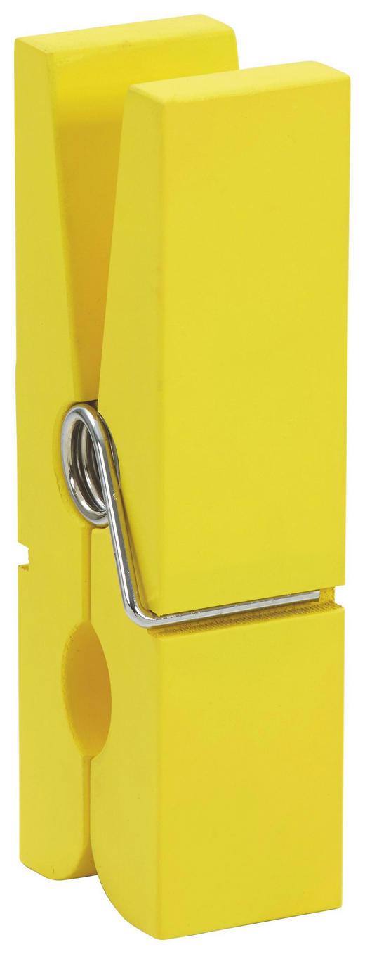 CLIP - Gelb, Basics, Holz/Metall (7/20/5cm)