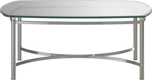 COUCHTISCH bootsförmig - Design, Glas/Metall (110/45/70cm) - Novel