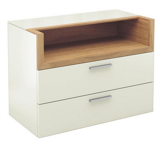 KOMMODE 80/58,8/40,1 cm  - Chromfarben/Eichefarben, Design, Holz/Holzwerkstoff (80/58,8/40,1cm) - Hülsta