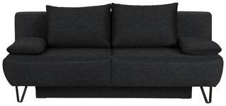 SCHLAFSOFA in Textil Anthrazit - Anthrazit/Schwarz, MODERN, Textil/Metall (202/90/91cm) - Xora
