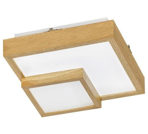LED-DECKENLEUCHTE - Eichefarben, MODERN, Holz/Kunststoff (35/10/35cm) - Wofi