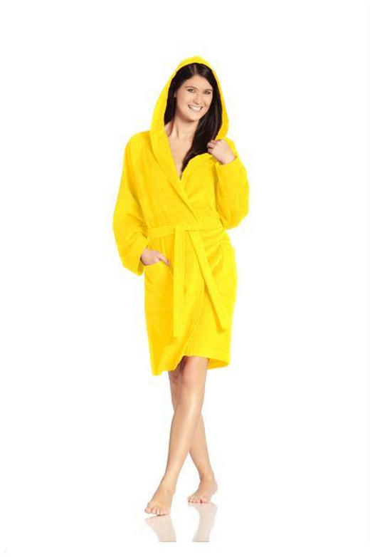 BADEMANTEL Texas  gr L - Gelb, Basics, Textil (L) - Vossen
