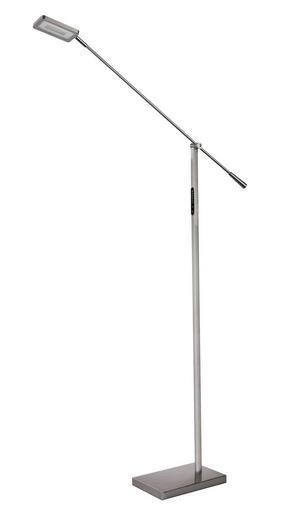 LED-GOLVLAMPA - nickelfärgad, Basics, metall/plast (80/15/127cm) - Novel