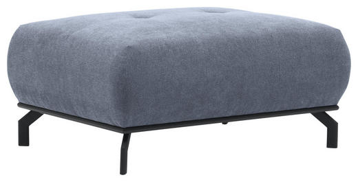 HOCKER in Textil Grau - Schwarz/Grau, Design, Textil/Metall (98/45/68cm) - Carryhome