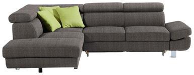 WOHNLANDSCHAFT in Textil Grau - Chromfarben/Grau, Design, Textil/Metall (229/270cm) - Xora